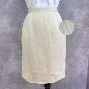 Vintage Talbots 100% Silk Skirt Size 8